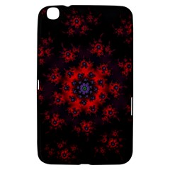 Fractal Abstract Blossom Bloom Red Samsung Galaxy Tab 3 (8 ) T3100 Hardshell Case