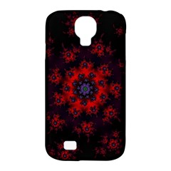 Fractal Abstract Blossom Bloom Red Samsung Galaxy S4 Classic Hardshell Case (pc+silicone)