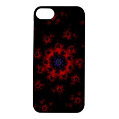 Fractal Abstract Blossom Bloom Red Apple iPhone 5S/ SE Hardshell Case