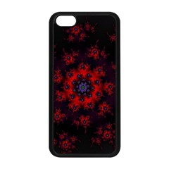 Fractal Abstract Blossom Bloom Red Apple Iphone 5c Seamless Case (black)