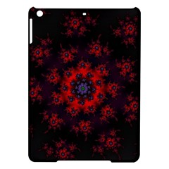 Fractal Abstract Blossom Bloom Red iPad Air Hardshell Cases