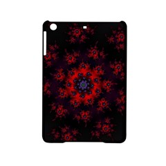 Fractal Abstract Blossom Bloom Red Ipad Mini 2 Hardshell Cases