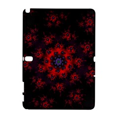 Fractal Abstract Blossom Bloom Red Galaxy Note 1