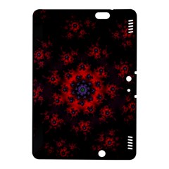 Fractal Abstract Blossom Bloom Red Kindle Fire Hdx 8 9  Hardshell Case