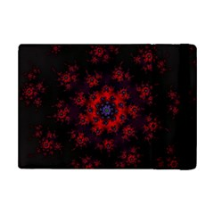 Fractal Abstract Blossom Bloom Red Ipad Mini 2 Flip Cases