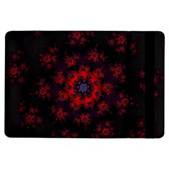 Fractal Abstract Blossom Bloom Red Ipad Air Flip