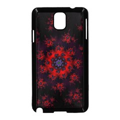 Fractal Abstract Blossom Bloom Red Samsung Galaxy Note 3 Neo Hardshell Case (black)