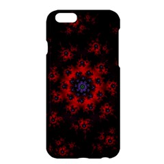 Fractal Abstract Blossom Bloom Red Apple Iphone 6 Plus/6s Plus Hardshell Case