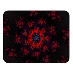 Fractal Abstract Blossom Bloom Red Double Sided Flano Blanket (large)