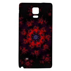 Fractal Abstract Blossom Bloom Red Galaxy Note 4 Back Case