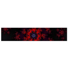 Fractal Abstract Blossom Bloom Red Flano Scarf (Small)