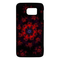 Fractal Abstract Blossom Bloom Red Galaxy S6
