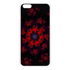 Fractal Abstract Blossom Bloom Red Apple Seamless iPhone 6 Plus/6S Plus Case (Transparent)