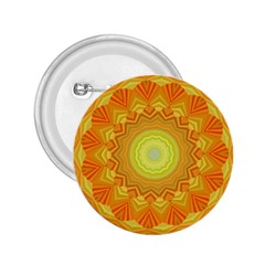 Sunshine Sunny Sun Abstract Yellow 2.25  Buttons