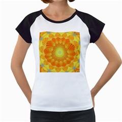 Sunshine Sunny Sun Abstract Yellow Women s Cap Sleeve T