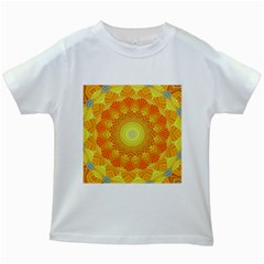 Sunshine Sunny Sun Abstract Yellow Kids White T Shirts