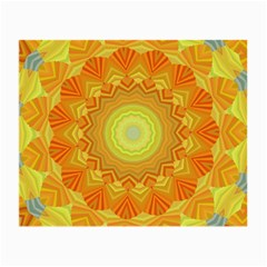 Sunshine Sunny Sun Abstract Yellow Small Glasses Cloth