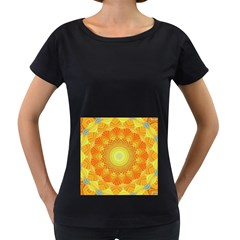 Sunshine Sunny Sun Abstract Yellow Women s Loose Fit T Shirt (black)