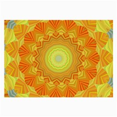 Sunshine Sunny Sun Abstract Yellow Large Glasses Cloth (2-Side)