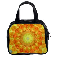Sunshine Sunny Sun Abstract Yellow Classic Handbags (2 Sides)