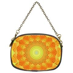 Sunshine Sunny Sun Abstract Yellow Chain Purses (one Side)