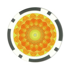 Sunshine Sunny Sun Abstract Yellow Poker Chip Card Guard (10 pack)