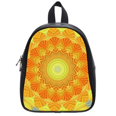 Sunshine Sunny Sun Abstract Yellow School Bags (Small)
