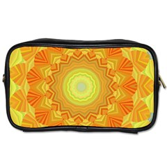 Sunshine Sunny Sun Abstract Yellow Toiletries Bags