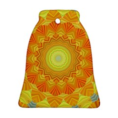 Sunshine Sunny Sun Abstract Yellow Ornament (Bell)