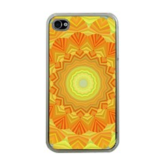 Sunshine Sunny Sun Abstract Yellow Apple iPhone 4 Case (Clear)
