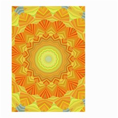 Sunshine Sunny Sun Abstract Yellow Small Garden Flag (two Sides)