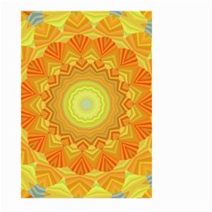 Sunshine Sunny Sun Abstract Yellow Large Garden Flag (two Sides)