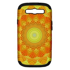 Sunshine Sunny Sun Abstract Yellow Samsung Galaxy S III Hardshell Case (PC+Silicone)