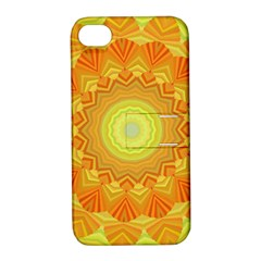 Sunshine Sunny Sun Abstract Yellow Apple Iphone 4/4s Hardshell Case With Stand