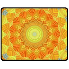 Sunshine Sunny Sun Abstract Yellow Double Sided Fleece Blanket (medium)