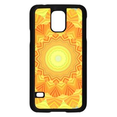 Sunshine Sunny Sun Abstract Yellow Samsung Galaxy S5 Case (black)