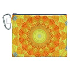 Sunshine Sunny Sun Abstract Yellow Canvas Cosmetic Bag (xxl)