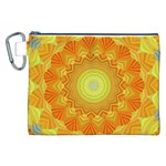 Sunshine Sunny Sun Abstract Yellow Canvas Cosmetic Bag (XXL) Front