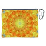 Sunshine Sunny Sun Abstract Yellow Canvas Cosmetic Bag (XXL) Back
