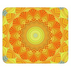 Sunshine Sunny Sun Abstract Yellow Double Sided Flano Blanket (Small)