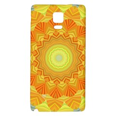 Sunshine Sunny Sun Abstract Yellow Galaxy Note 4 Back Case