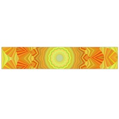 Sunshine Sunny Sun Abstract Yellow Flano Scarf (large)