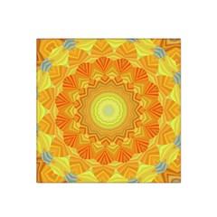 Sunshine Sunny Sun Abstract Yellow Satin Bandana Scarf