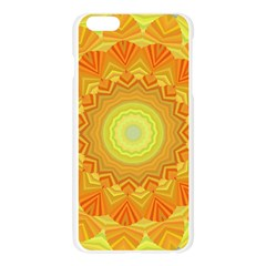 Sunshine Sunny Sun Abstract Yellow Apple Seamless iPhone 6 Plus/6S Plus Case (Transparent)