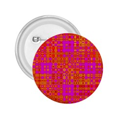 Pink Orange Bright Abstract 2.25  Buttons