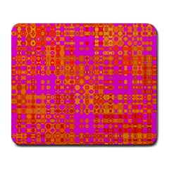Pink Orange Bright Abstract Large Mousepads
