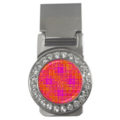 Pink Orange Bright Abstract Money Clips (CZ)