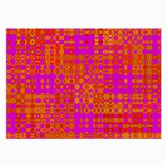 Pink Orange Bright Abstract Large Glasses Cloth
