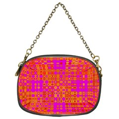 Pink Orange Bright Abstract Chain Purses (one Side)