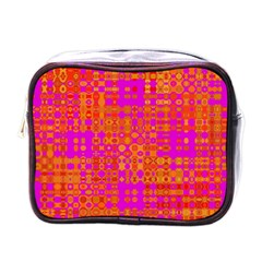 Pink Orange Bright Abstract Mini Toiletries Bags